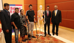 """""""Your unusual gesture has inspired us"""", says Dr Prithvi Mohandas,  Managing Director, MIOT International"""