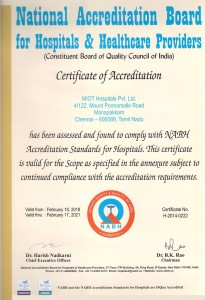 NABH certificate of accreditation