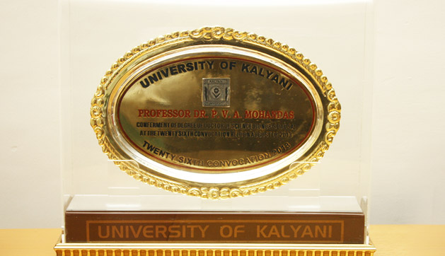 Kalyani University Award for Prof. Dr. P. V. A. Mohandas